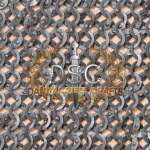 Flat Wire Wedge Riveted Chainmail