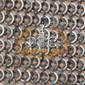 Flat Wire Round Riveted Chainmail With Washer