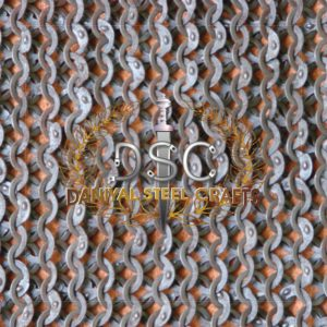 Flat Wire Wedge Riveted Chainmail With Washer