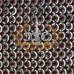 Round Wire Round Riveted Chainmail With Washer